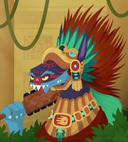 Aztec Warrior Ahuizotl by ShadOBabe