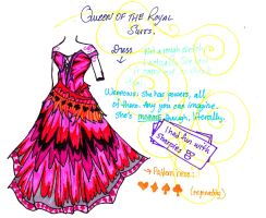 The Queen of the Royal Suits (dress) by Fragment-City