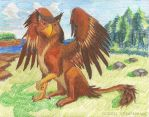 Rough Gryphon WIP by Stratadrake