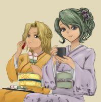 Terra and Celes | Yukata by heiligeharmonie