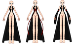 Trench Coat Front View Template by GoddessCureMystic