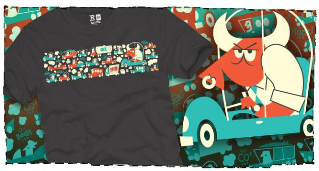 Tee 4 Sale a bull by the horns by Montygog