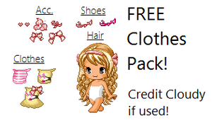 Free Pink Clothes Pack! by cloudy807