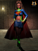 Supergirl - new dress and home by RazielKanos