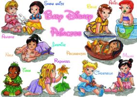Baby Disney Princess by SailorMiha