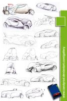 Toy Cars sketchwork by candyrod