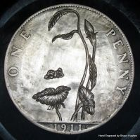 Octavio Ocampo Mouth of Flower Hand Engraved Penny by shaun750