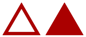 Triangle Sign Model Red Stock by wuestenbrand