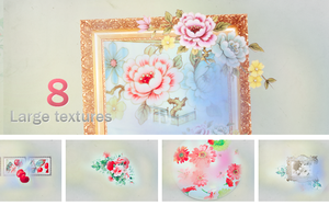 Textures - Vintage flowers by So-ghislaine