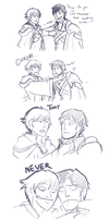 Tiny Fire Emblem Sketchdump by DJaimon