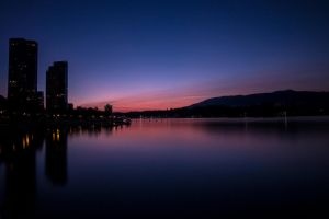 Coal Harbour Sunset through ND Filter by insomniac199