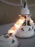 Wedding cake - put together by Erisana