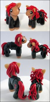 Black Widow Ponies by balletvamp