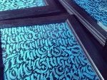 Letters Blue Calligraphy by calligraphymasters