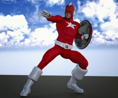 Red Guardian 2nd skin textures for M4 by hiram67