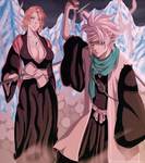 Rangiku And Toshiro - Ice wall by Ric9Duran