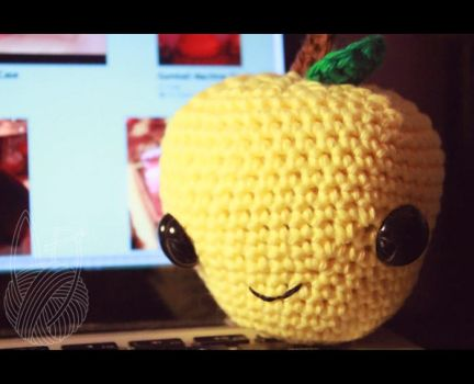 Yellow Apple Amigurumi by theyarnbunny