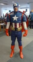 An old picture of me as captain america by WilbertCaptain