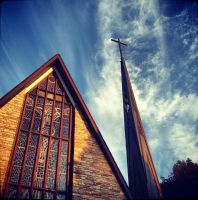 X church and steeple X by EmilyAlexandria