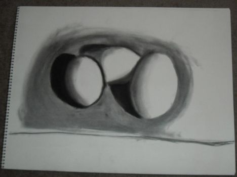 Eggs, drawn with only shading by the-REAL-Mister-Jack