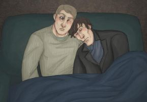 johnlock on the couch by toxindicator