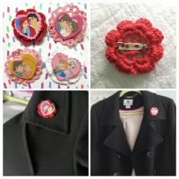 FOR SALE: Valentine's Day Pins detail by Lokotei