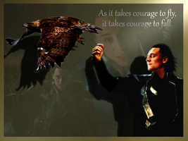 Loki and the Eagle by Witty-Allowishus