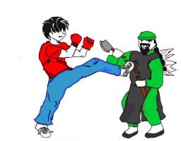 xaos vs DW henchman soldier by fighterxaos