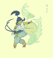 Korra and the Lake Trout by tokyo4dinner