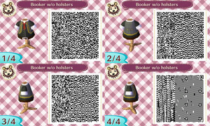 Animal Crossing QR Code Booker DeWitt by TeaganLouise