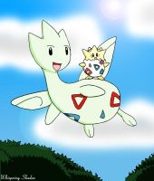 cg- Togepi and Togetic by whispering-shadow