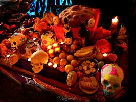My Day of the Dead altar by photo-tlacuilopilo