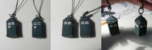 Day 19- Tardis Cellcharms by ChibiSilverWings