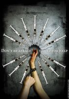 Anti-drug campaign poster by andreim