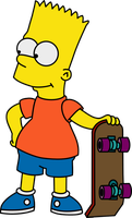 Bart with his Skateboard by Mighty355