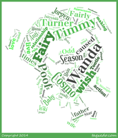 Cosmo Cosma Word Cloud Typography by 120dog
