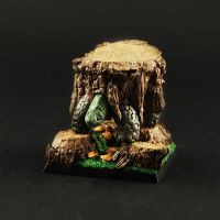 Painted Fantasy Stump Turtle by RistulsMarket