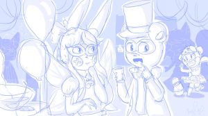 PA-Masquerade Party by PixieParrot