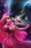 Princess Bubblegum and Marceline by NOPEYS