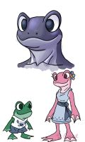 Frogy peoples doodls by rongs1234