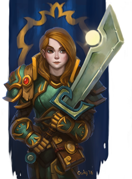 2016-11-17 Paladin Commission by lowly-owly