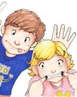 My kids are a couple of characters by beamer