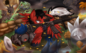 [Commission] Battlefield by vavacung