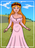 Princess Zelda - Night Gown - Animated Series by Vicsor-S3