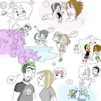 Total Drama Island doodles by NatRat94