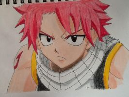 Natsu dragneel Fan art by AppleFreak5602