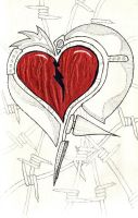 The Scared Scarred Heart - OG by carsonlacroix