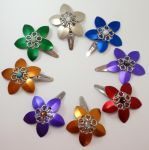 Scale flower barrettes by MermaidsTreasury