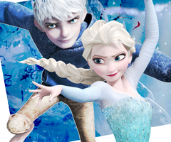 Jack frost and Elsa by TheWinterHope