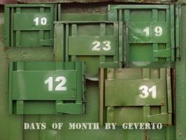 days of month by geverto